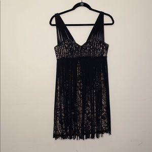 EUC BCBG MAXAZRIA Black Lace Dress 6